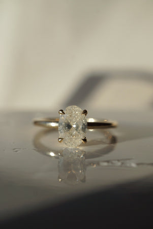 Only One Ring - 1.01ct Oval Icy Salt and Pepper Diamond - Foe & Dear