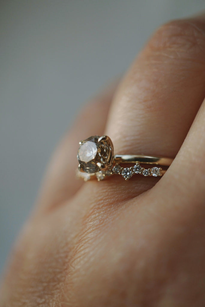 Only One Ring - 1.02ct Round Champagne Diamond *SOLD