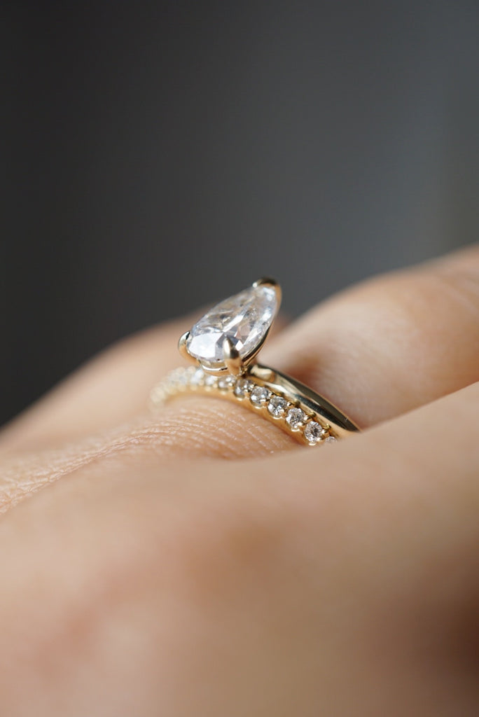 Only One Ring - 0.96ct Pear Salt & Pepper Diamond *SOLD