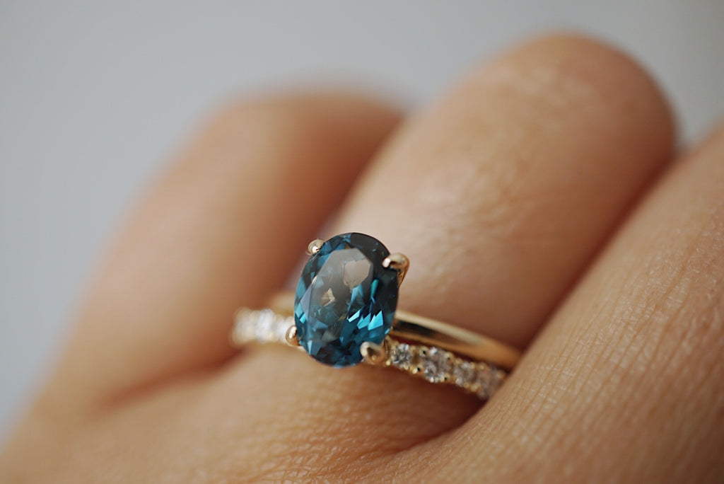 Only One Ring - Oval Blue London Topaz