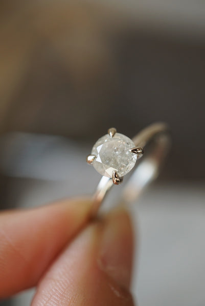 Only One Ring - 1.04ct Round Icy Salt and Pepper Diamond *ON HOLD
