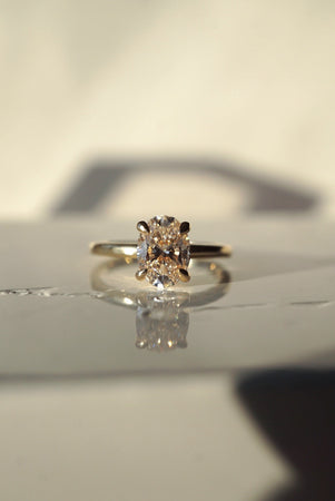 Only One Ring - 1.02ct Pale Oval Champagne Diamond *Ready to ship