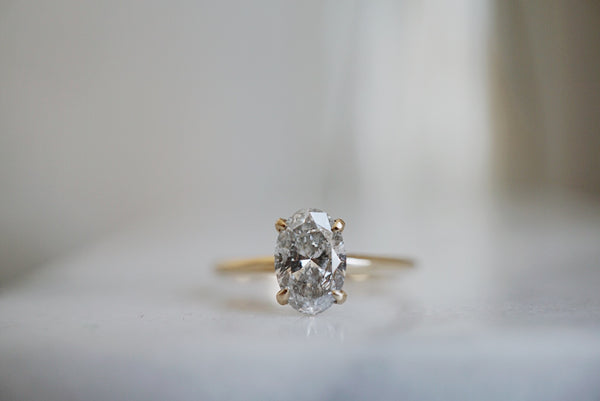 Only One Ring - 1.07ct Oval Salt and Pepper Diamond *SOLD