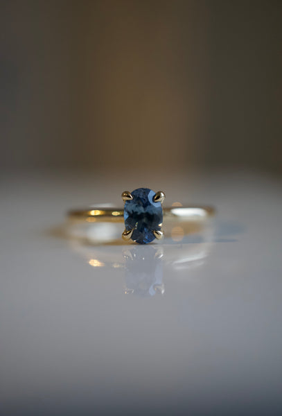 Only One Ring - .71ct Oval Blue Montana Sapphire *ready-to-ship
