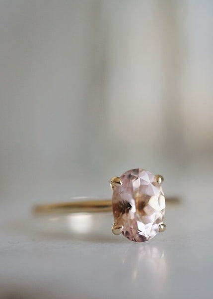 Only One Ring - Oval Pink Morganite *ready-to-ship
