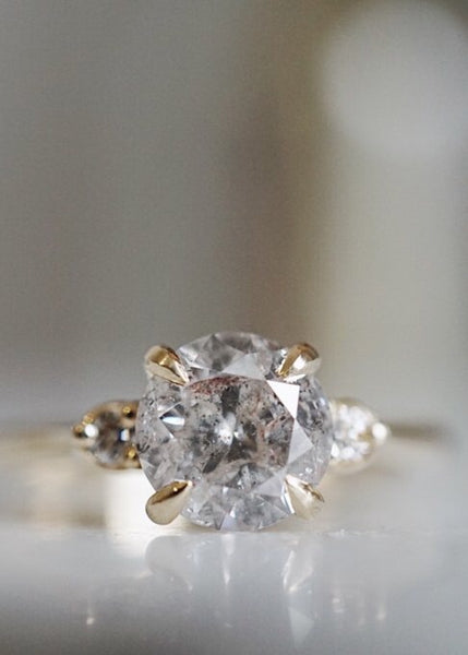 Companions Ring - 1.43ct Round Salt and Pepper Diamond *ready-to-ship