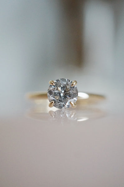 Only One Ring - .90ct Salt and Pepper Diamond *ready-to-ship