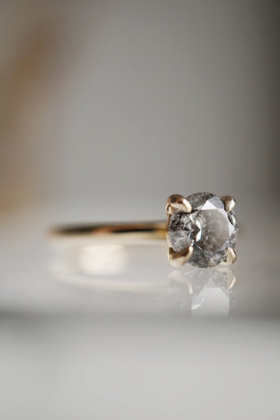 Only One Ring - 1.02ct Round Salt and Pepper Diamond *SOLD