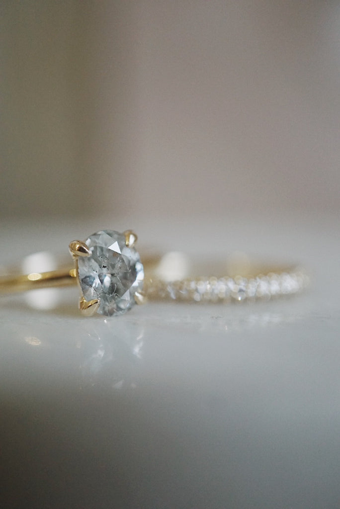 Only One Ring - 1.02ct Oval Salt and Pepper Diamond *SOLD