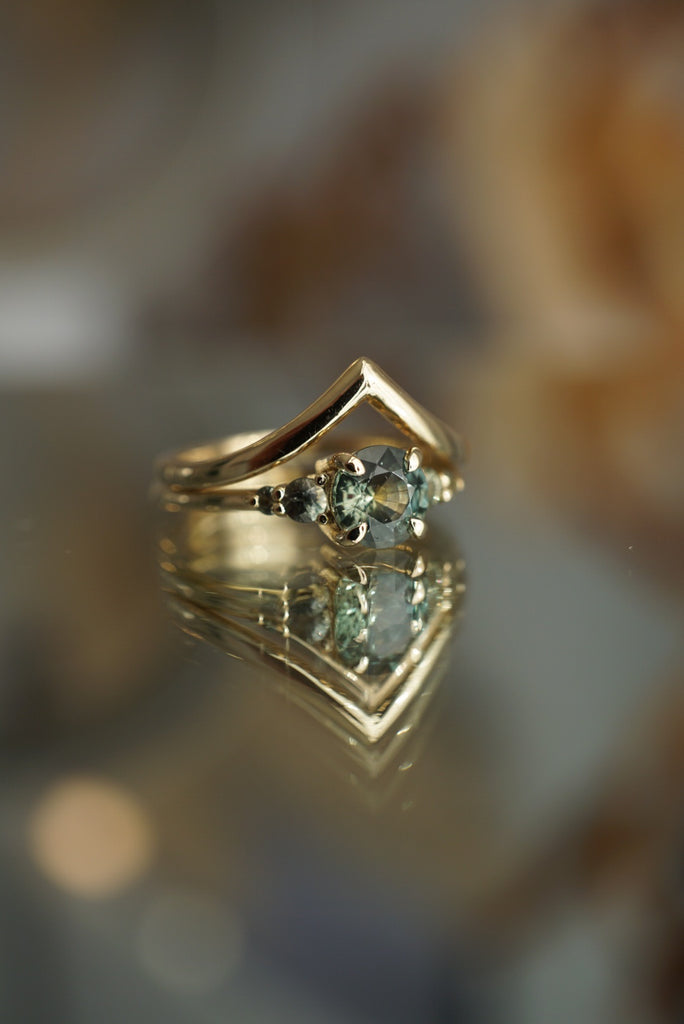 Selene Ring - 1.03ct Ombre Green Montana Sapphire *ready-to-ship