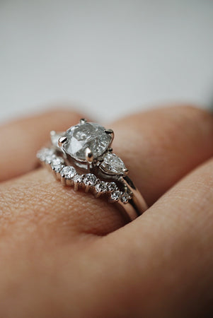Belle Ring - 1.08ct Round Salt & Pepper *SOLD