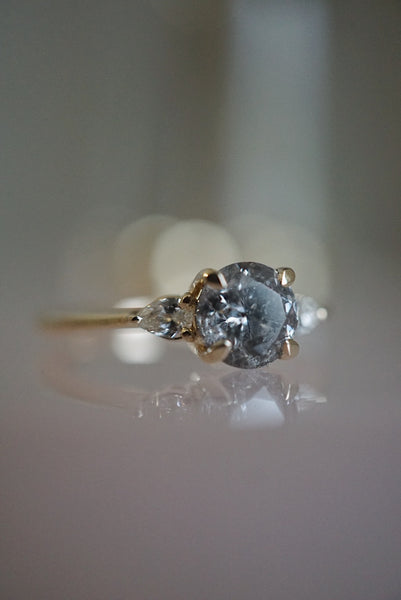 Belle Ring - 1.20ct Round Salt & Pepper *ready-to-ship