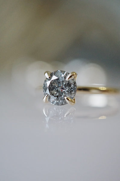 Only One Ring - 1.22ct Salt and Pepper Diamond *ready-to-ship