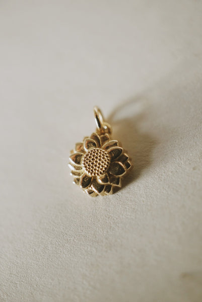 Sunflower Charm Pendant *preorder closed until 2021