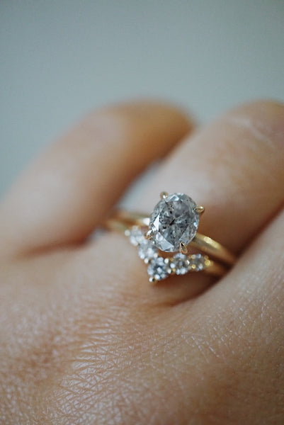 Only One Ring - 1.34ct Oval Salt and Pepper Diamond *ready-to-ship