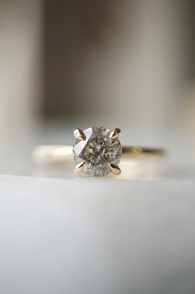 Only One Ring - 1.02ct Salt and Pepper Diamond *SOLD