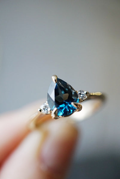 Companions Ring - 1.40ct Pear London Blue Topaz *HOLD