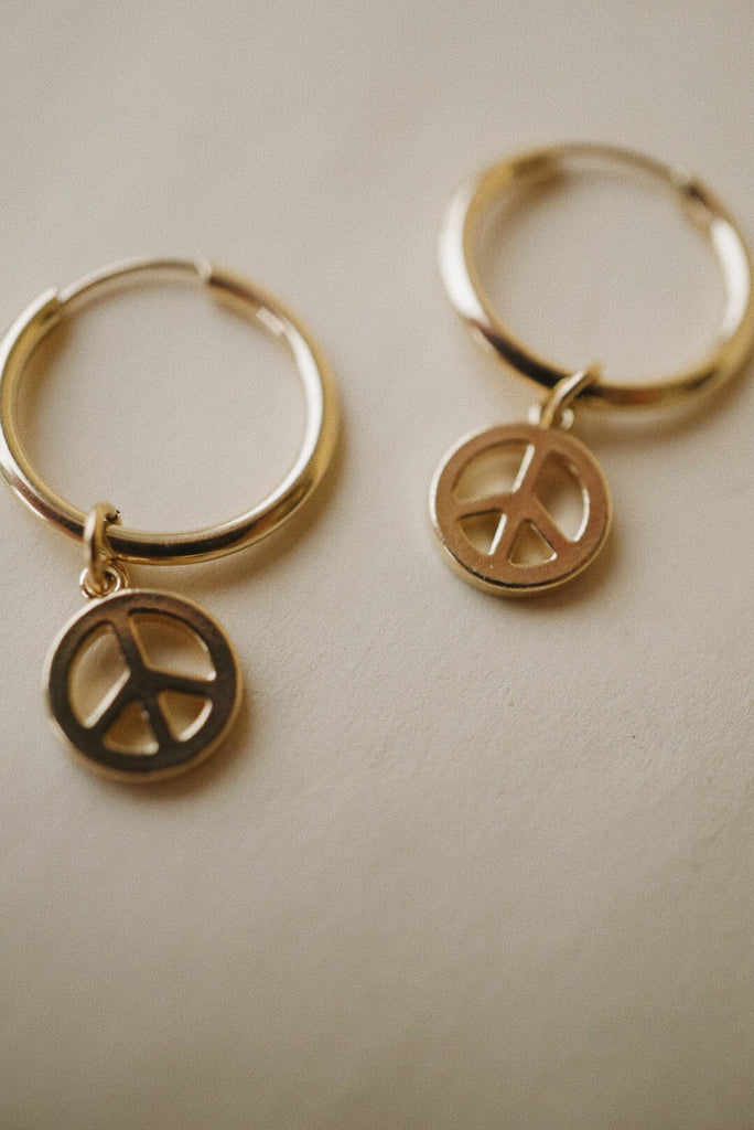 Peace Charm Hoop (Single) *preorder closed until 2021