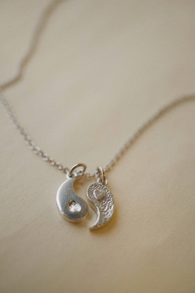 Yin Yang Charm Pendant *made-to-order - Foe & Dear