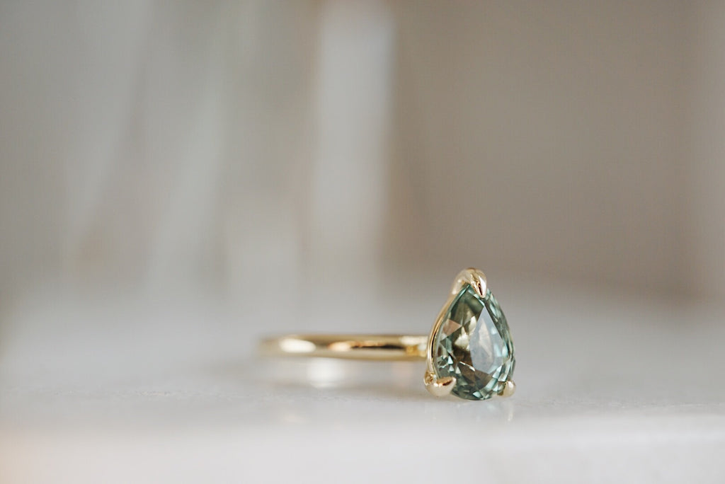 Only One Ring - 1.61ct Pear Green Sapphire *ready-to-ship