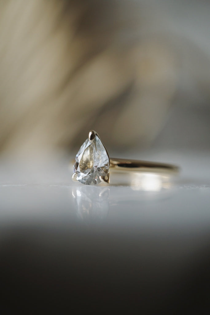 Only One Ring - 1.15ct Pear White Sapphire *SOLD