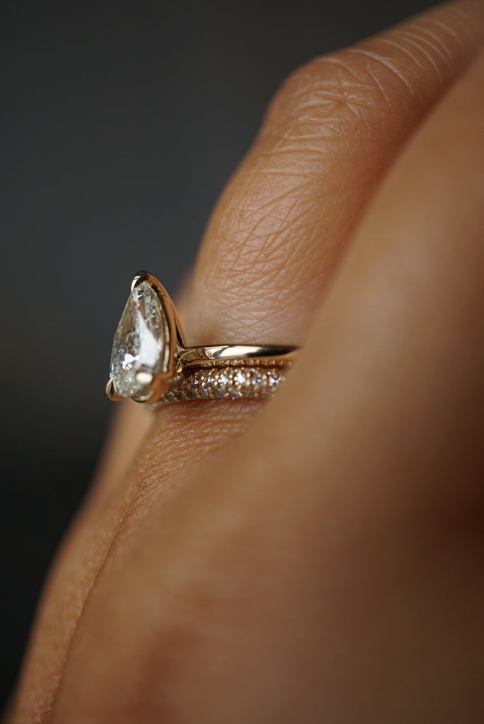 Only One Ring - 1.02ct Pear Champagne Salt and Pepper Diamond *ready-to-ship