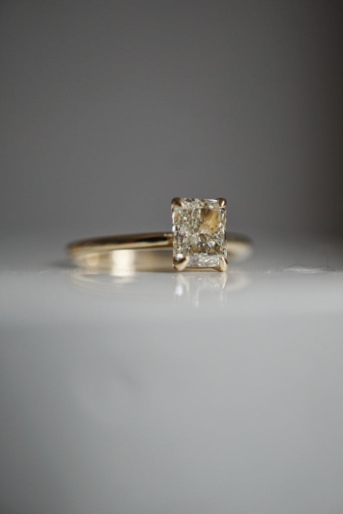 Only One Ring - 1.01ct Radiant Pale Champagne Salt and Pepper Diamond *SOLD