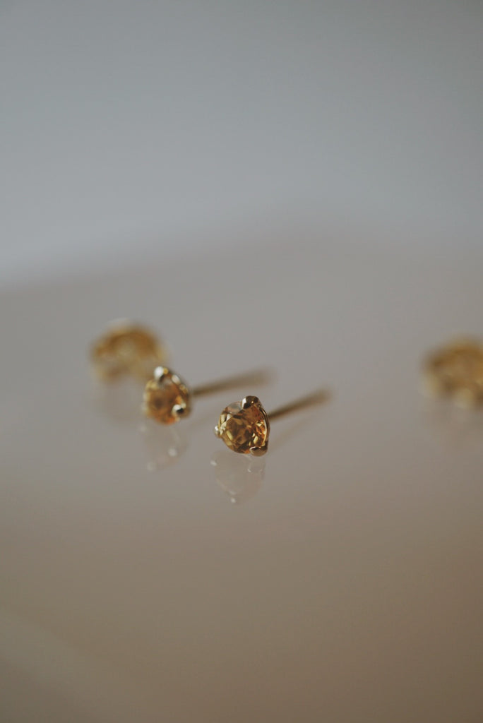 Baby Honey Topaz Studs
