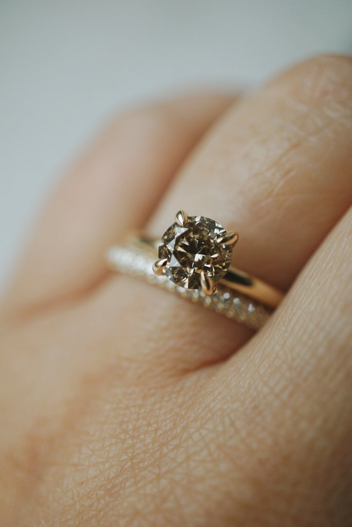 Only One Ring - 1.02ct Champagne Salt and Pepper Diamond *SOLD