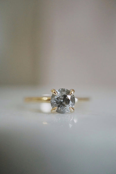 Only One Ring - .97ct Salt and Pepper Diamond *SOLD
