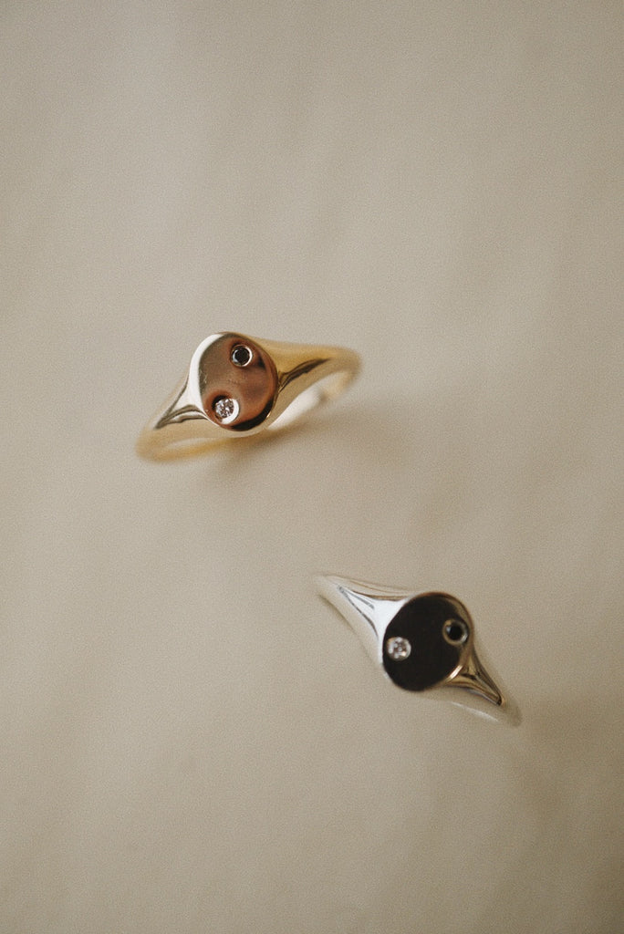 Yin Yang Signet Ring *made-to-prder - Foe & Dear
