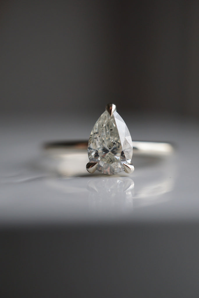 Only One Ring - 1.01ct Pear Salt and Pepper Diamond *ready-to-ship