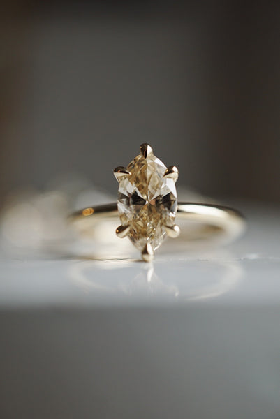 Only One Ring - 1.03ct Marquise Champagne Diamond *ready-to-ship