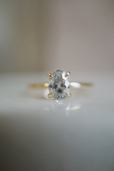 Only One Ring - 1.02ct Oval Salt and Pepper Diamond *ready-to-ship