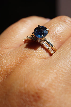 Only One Ring - 1.64ct Round Blue/Green Montana Sapphire *ready-to-ship