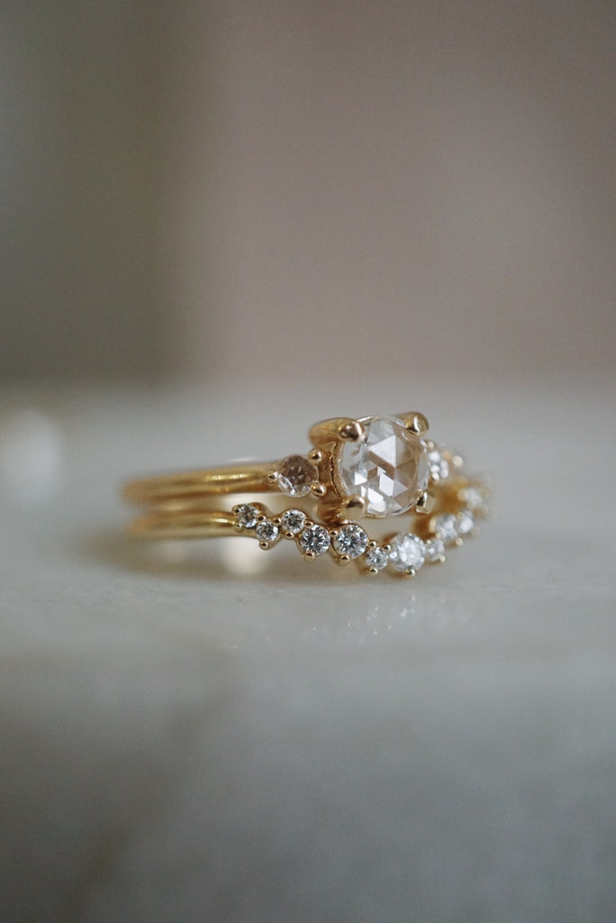 Petite Companions Ring - White Rose Cut Diamond *SOLD