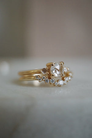 Petite Companions Ring - White Rose Cut Diamond *ready-to-ship