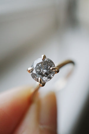 Only One Ring - 1.22ct Salt and Pepper Diamond *ON HOLD