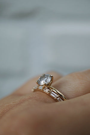 Only One Ring - .98ct Round Salt and Pepper Diamond *SOLD