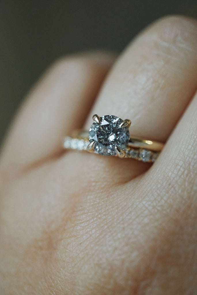 Only One Ring - 1.22ct Salt and Pepper Diamond *SOLD