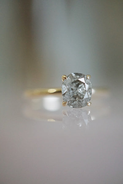 Only One Ring - 1.09ct Oval Salt and Pepper Diamond *ready-to-ship