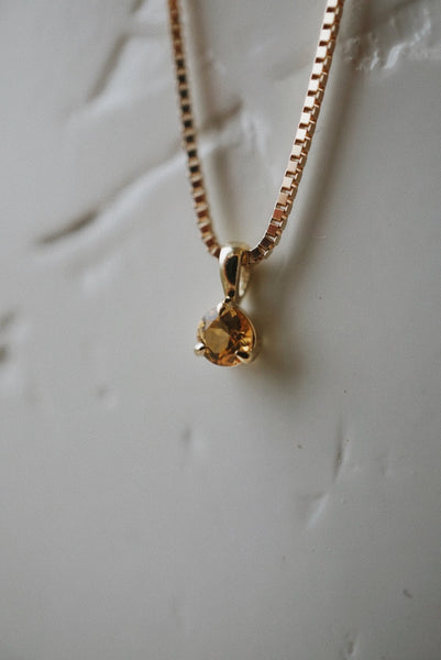 Baby Honey Topaz Necklace