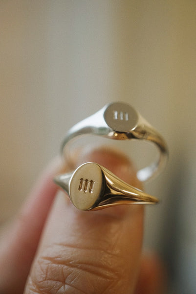 Initial Signet Ring *made-to-order