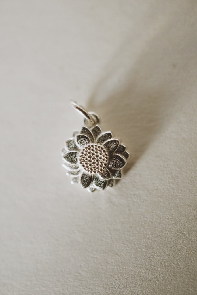 Sunflower Charm Pendant *made-to-order - Foe & Dear