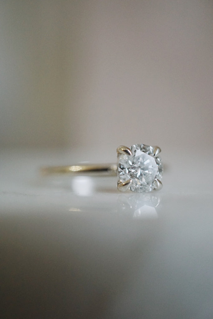 Only One Ring - 1.00ct Round Salt and Pepper Diamond *SOLD