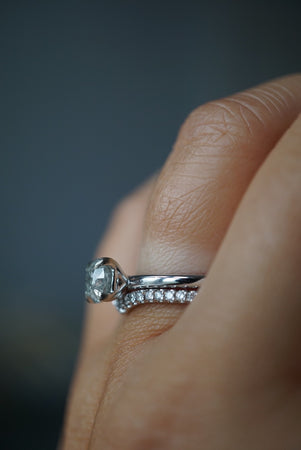 Only One Ring - .95ct Salt and Pepper Diamond *SOLD