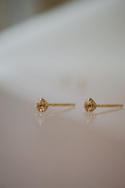Baby Honey Topaz Studs - Foe & Dear