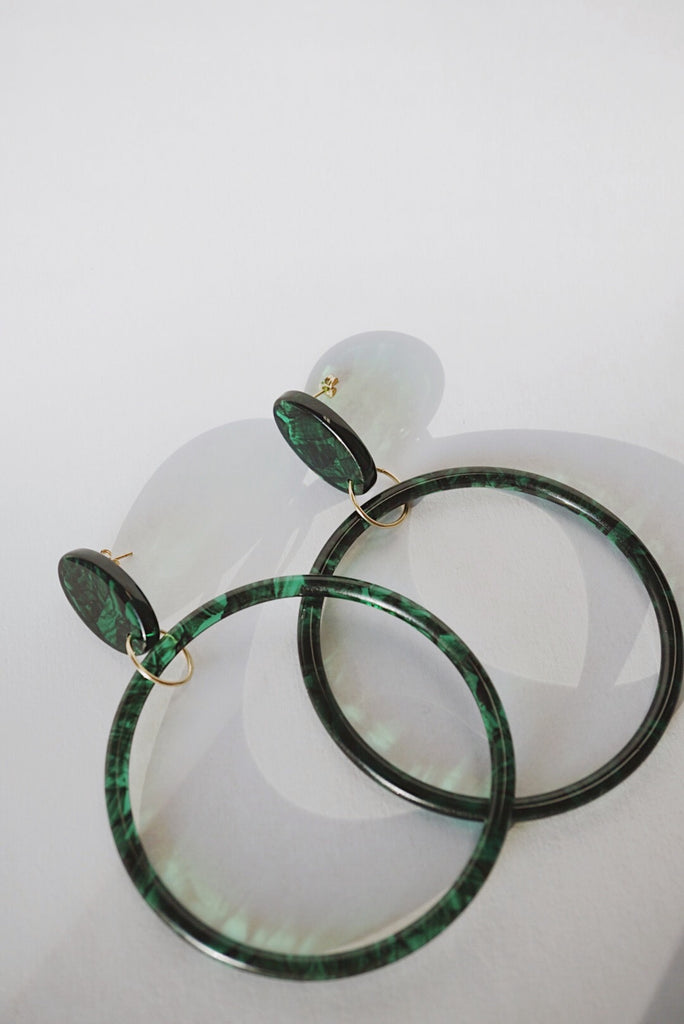 Leone Hoop Earrings *Emerald