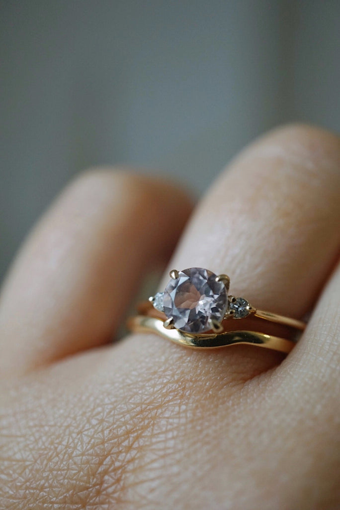 Companions Ring -  .95ct Pink Morganite *ready-to-ship