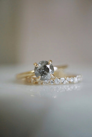 Only One Ring - .97ct Salt and Pepper Diamond *ready-to-ship